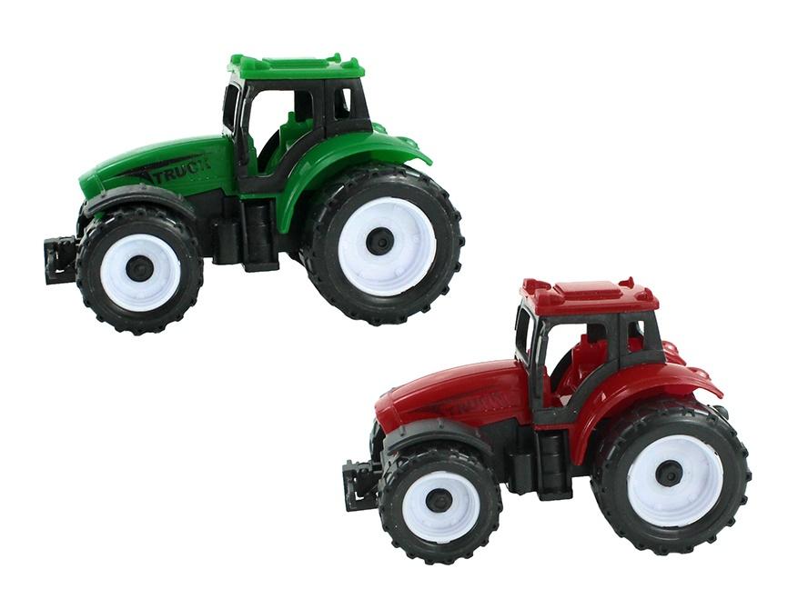 Traktor 2-farbig sortiert mit Rückzug ca 9 x 5 x 5,5 cm