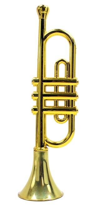 Trompete goldfarben ca 33cm