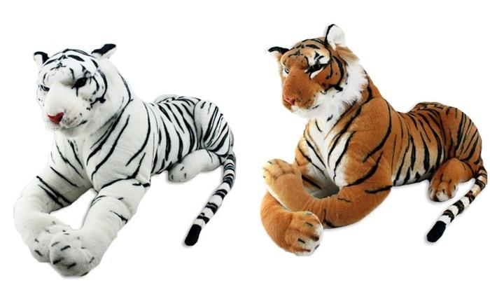 Tiger weiß + braun sortiert  ca 115/180 cm