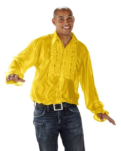 Rüschen-Hemd, gelb