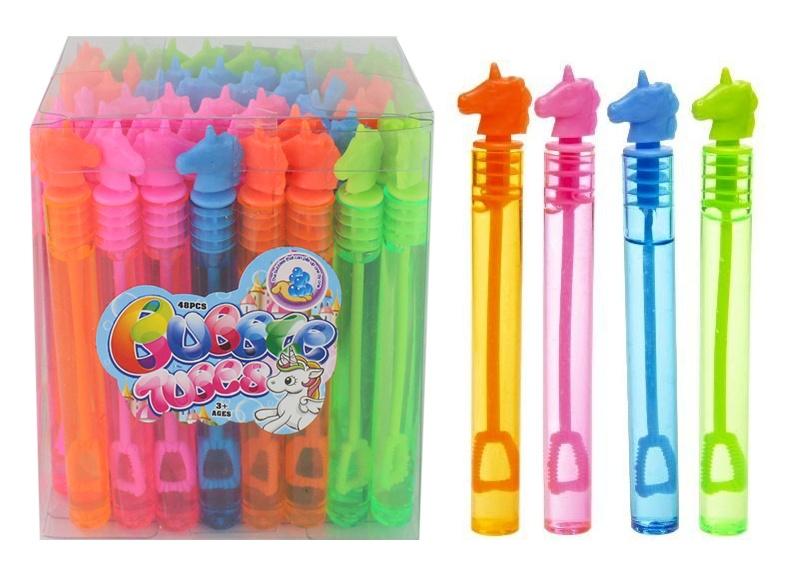 Seifenblasen Stick Einhorn farbig sortiert ca 11 cm