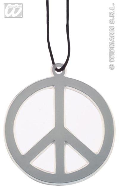 Kette - Peacezeichen ca 10cm