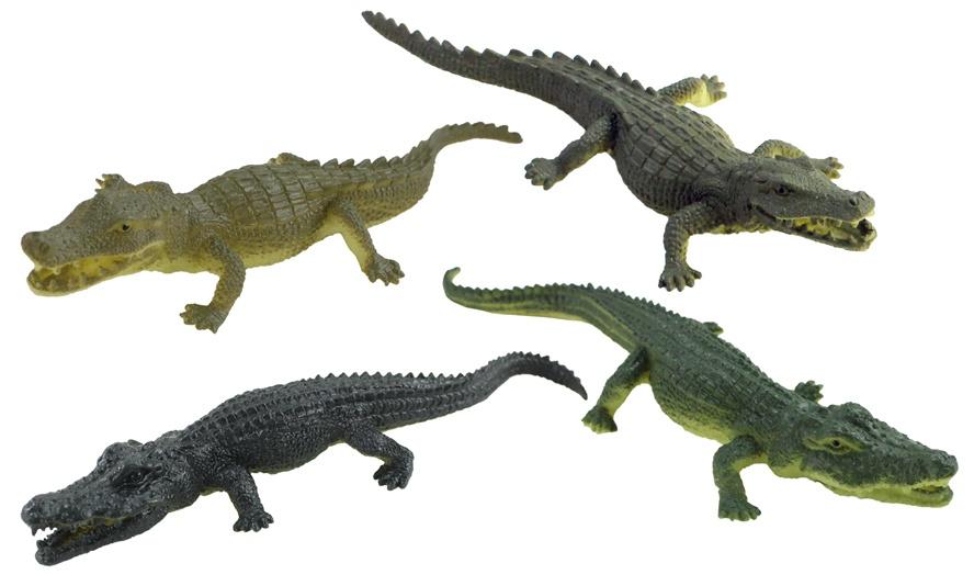 Krokodil 4-fach sortiert ca 14 cm