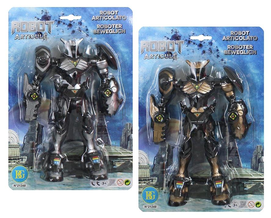 Roboter 2-farbig sortiert auf Karte ca  31x21,5cm