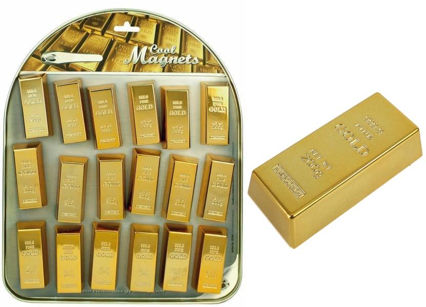 Magnet Goldbarren COOLMAGNETS ca 6x2,7x1,6cm