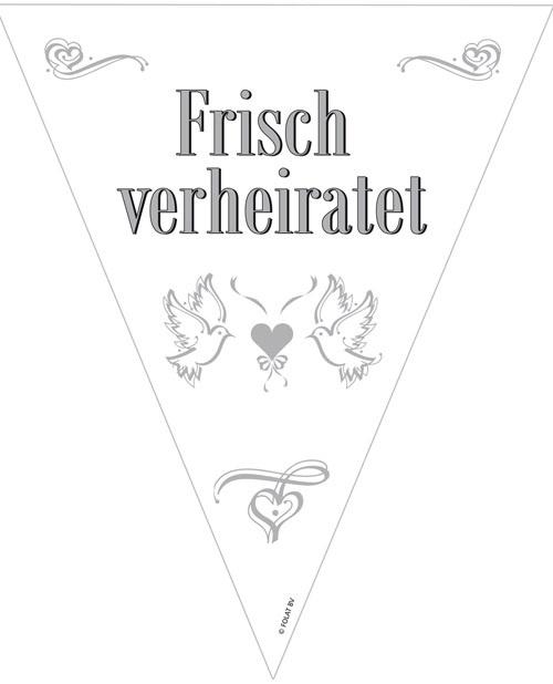 Wimpelkette - Frisch verheiratet - ca 10m