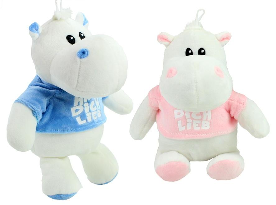 Hippo mit T-Shirt 2-fach sortiert ca 33 cm