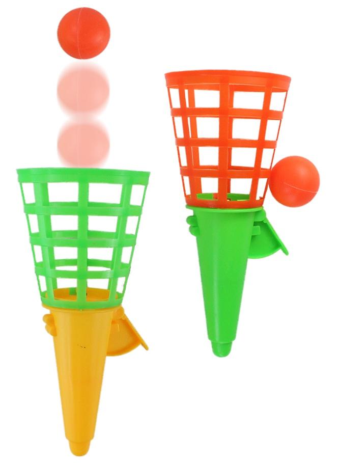 Fangbecher Fangballspiel 2-farbig sortiert ca 18 cm