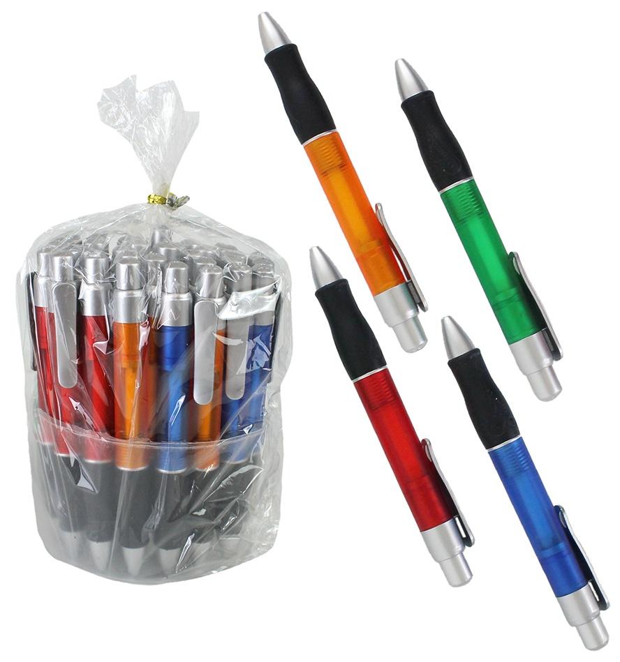 Kugelschreiber mit Großraummine, 4-fach sortiert - ca 13,5cm