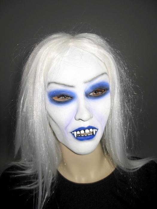 Maske Gothic-Vampirin mit Haar