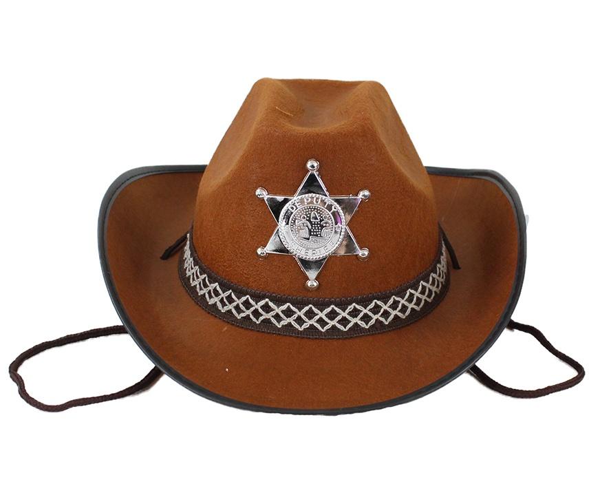 Cowboyhut braun für Kinder
