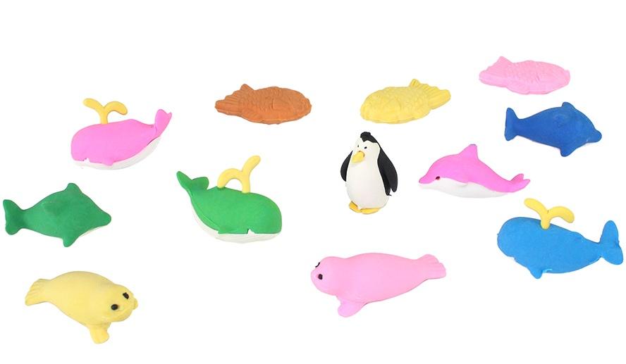 Radiergummi Seetiere mehrfach sortiert ca 3,5-5cm