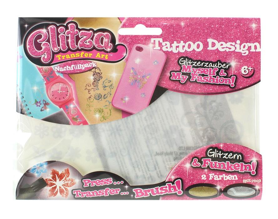 Knorrtoys Glitza Tattoo Set im Beutel ca 18,5x13,5cm