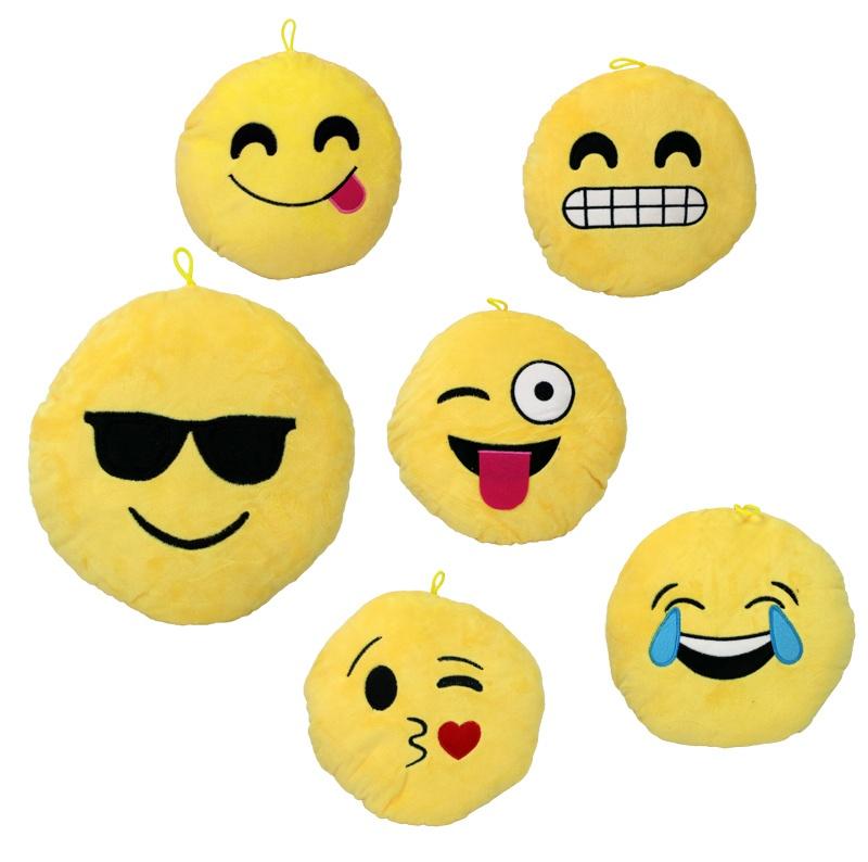 Kissen Smilie Emoticon 6 - fach sortiert ca 21 cm