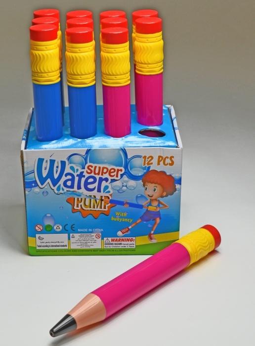 Wasserspritzer Bleistiftform 2-fach sortiert ca 34 cm