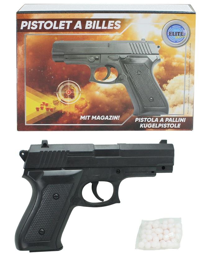 Kugelpistole mit Magazin max 0,5 Joule ca 18 cm