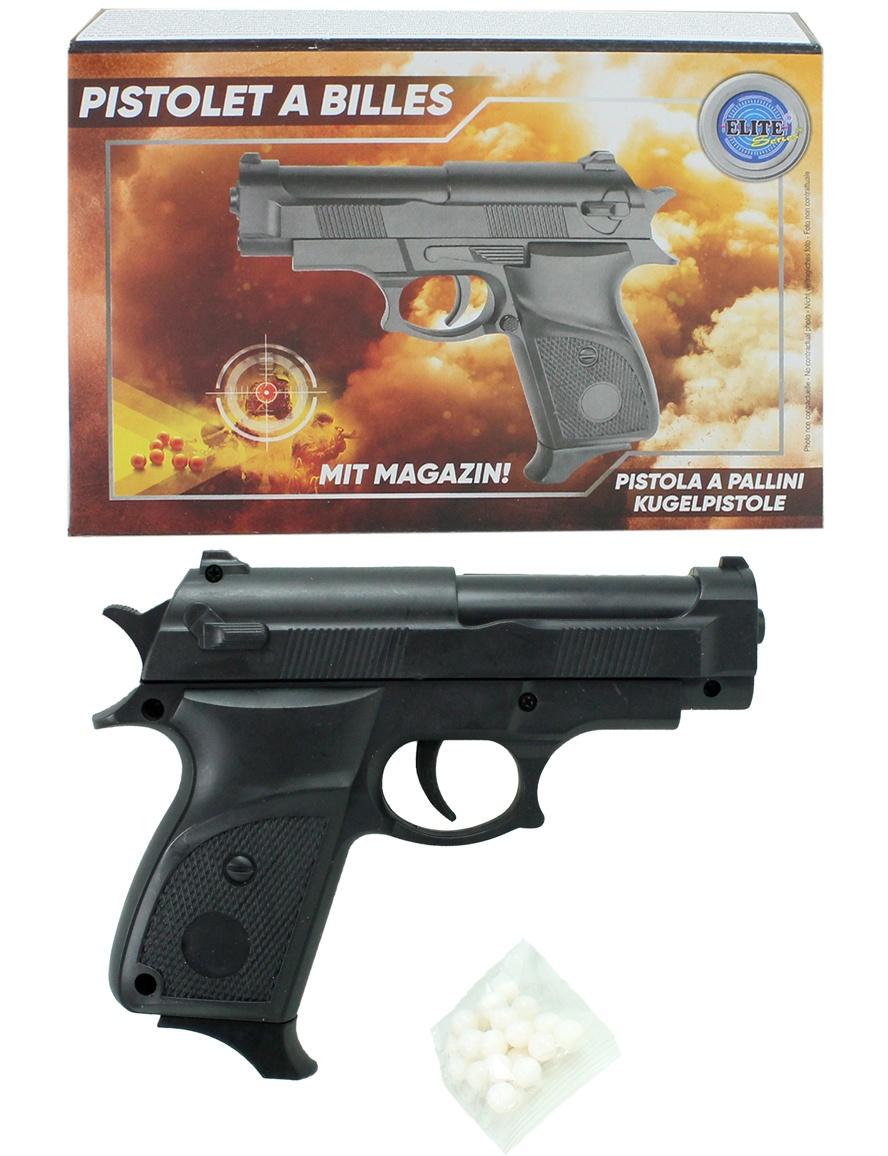 Kugelpistole mit Magazin max 0,5 J  ca 15 cm