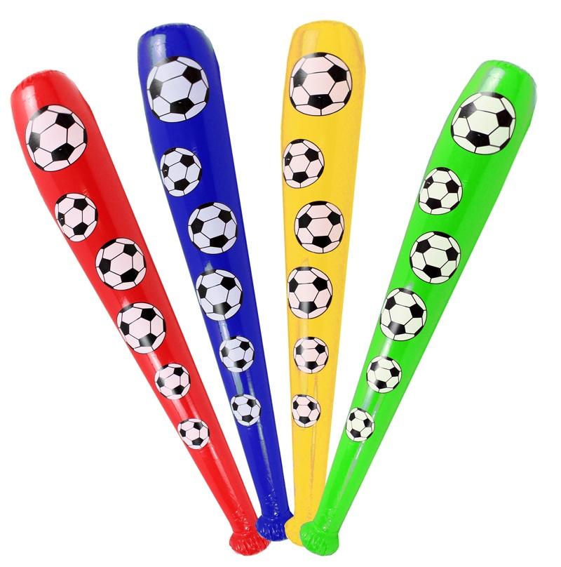 Aufblaskeule Fußball 4 farbig sortiert ca 85 cm