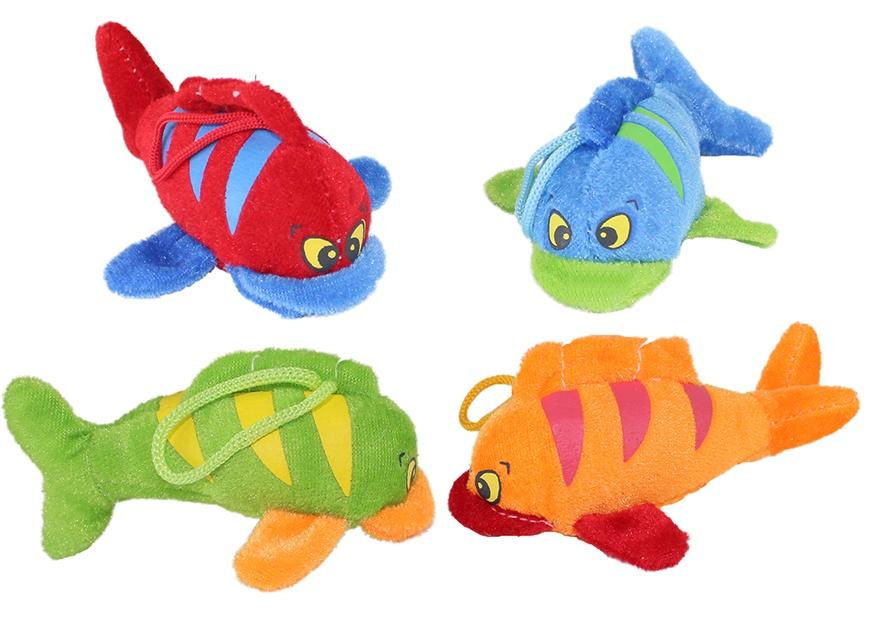 Plüsch Fisch 4-farbig sortiert ca 11 cm