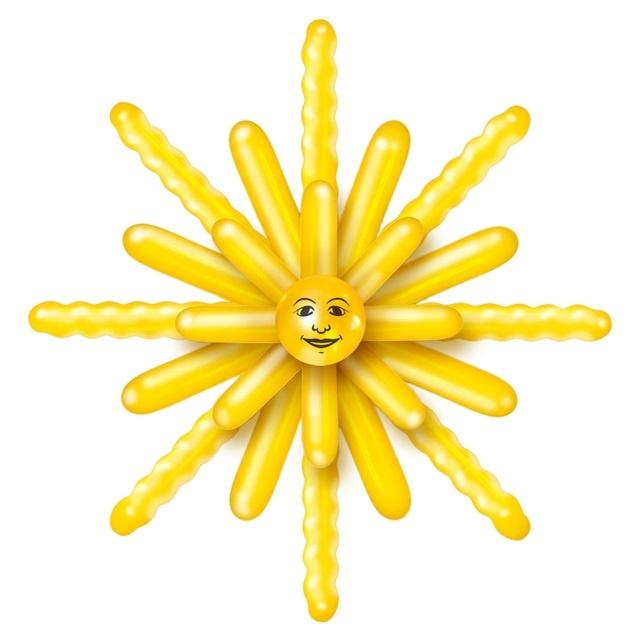 Ballon Set Sonne  Durchmesser ca 120 cm