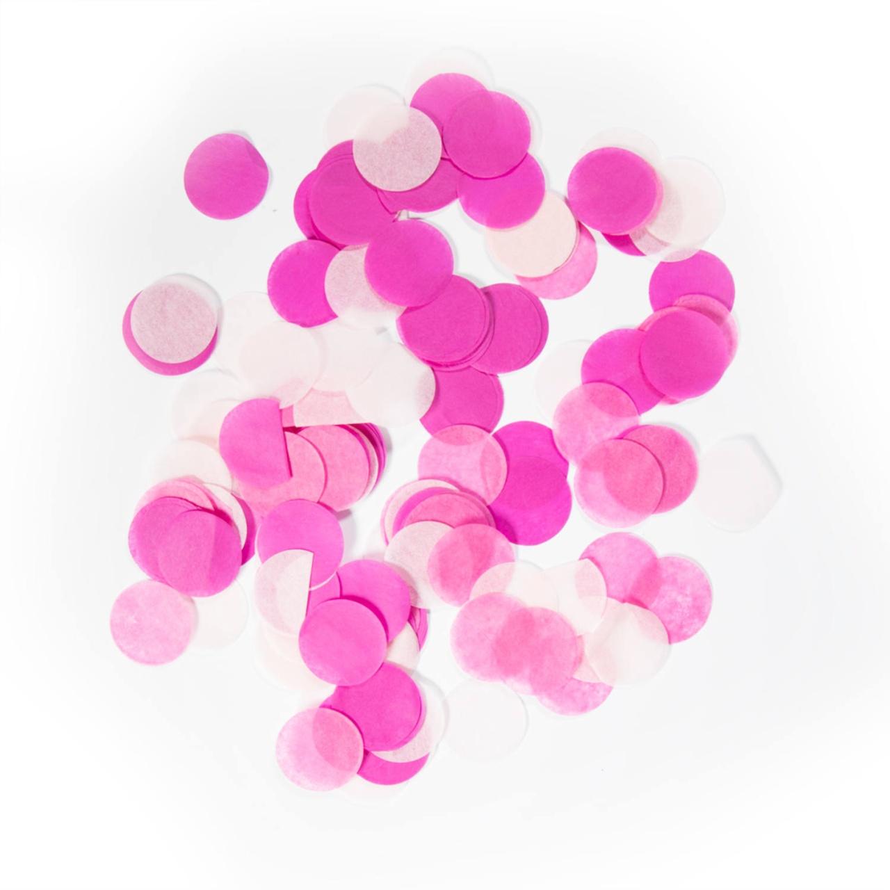 Konfetti XXL rosa ca 14 gramm, Durchmesser ca 2,5 cm