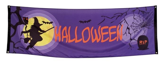 Banner Vollmond Halloween ca 74x220cm