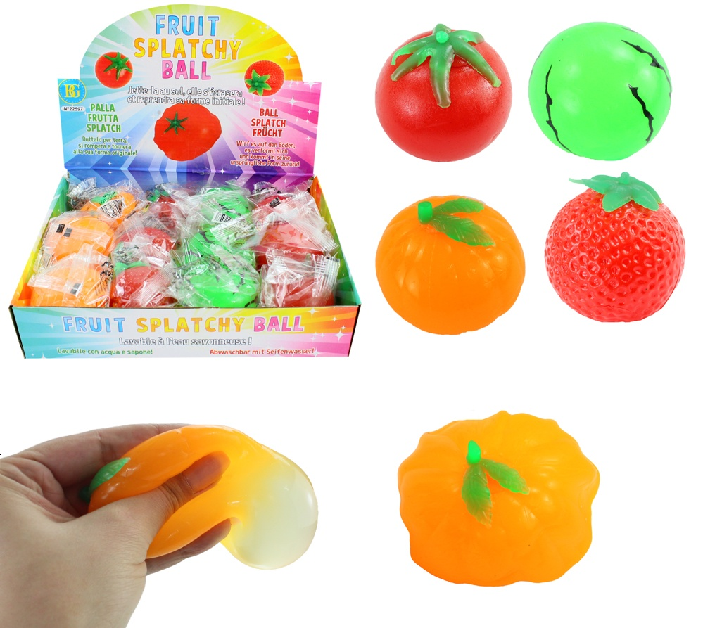 Wasser Schleim Ball Obst+Gemüse 4-fach sortiert ca 6 cm