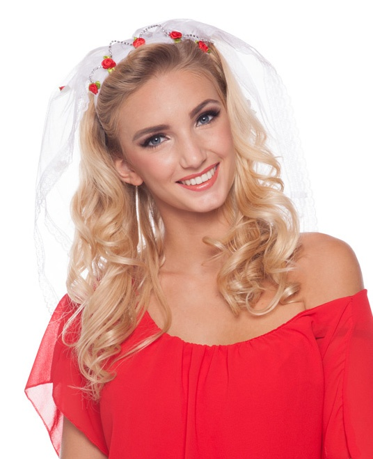 Tiara Braut mit Röschen