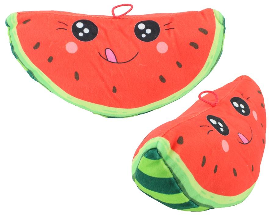 Plüsch Melone mit Gesicht ca 25cm
