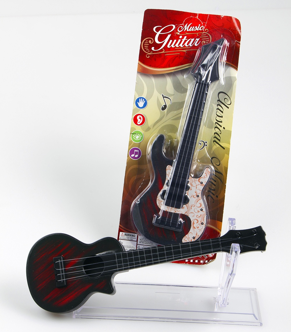 Gitarre 2-farbig sortiert auf Blisterkarte - ca 33x13cm