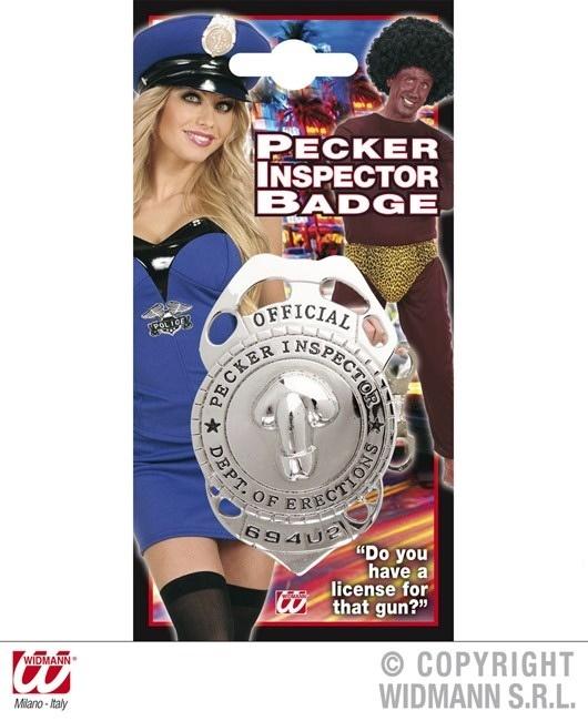Willy-Inspektor Abzeichen METALL - ca 8x4,5 cm