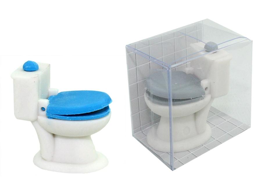Radiergummi WC 2 fach sortiert in Schachtel ca 4 x3,5 x 2 cm