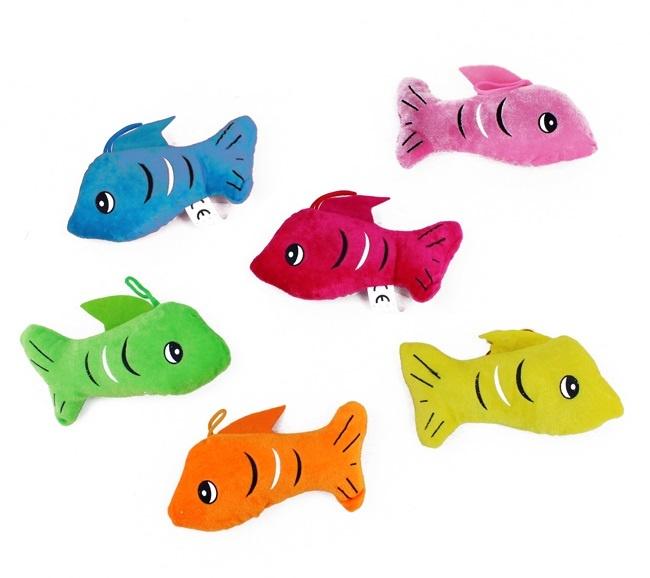 Fisch 6-fach sortiert mit gedruckten Augen - ca 17cm