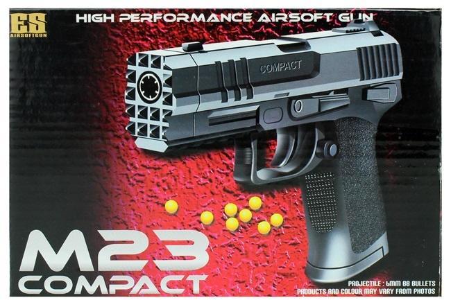 Pistole -schwarz- in Box- max 0,5 Joule ca 20cm