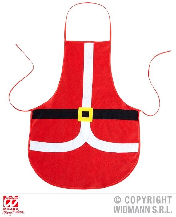 Weihnachtsmannschürze ca  75 x 54 cm