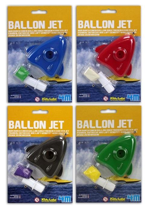 HCM Kinzel Ballon Jet 4-fach sortiert auf Karte ca 19x13cm