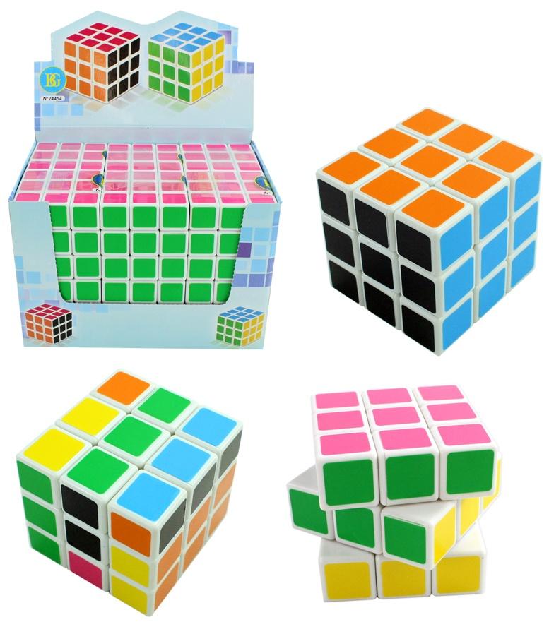 Würfel Rätselwürfel bunt leicht drehbar - ca 5,5x5,5x5,5cm
