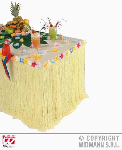 Tischdekoration mit Blumen Tischrock Hawaii - ca 275x75cm