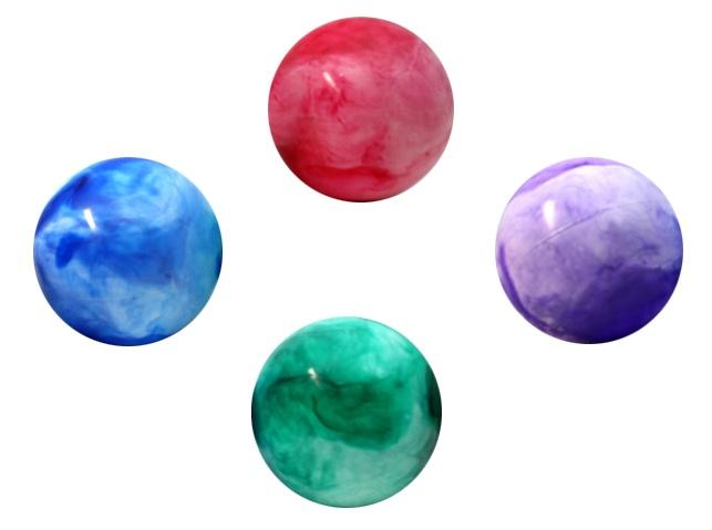 Ball - Aufblasball - marmoriert  4-fach sortiert - ca 20 cm