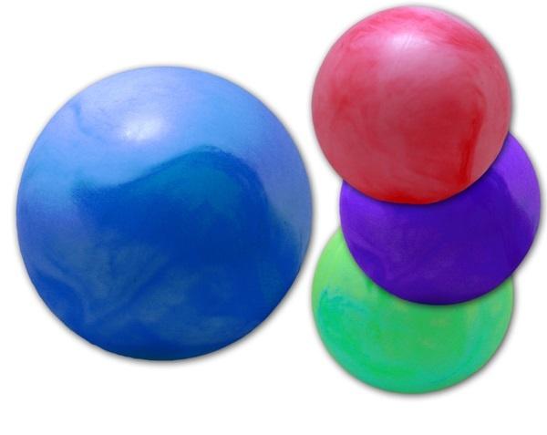 Ball - Aufblasball - marmoriert  4-fach sortiert - ca 35cm