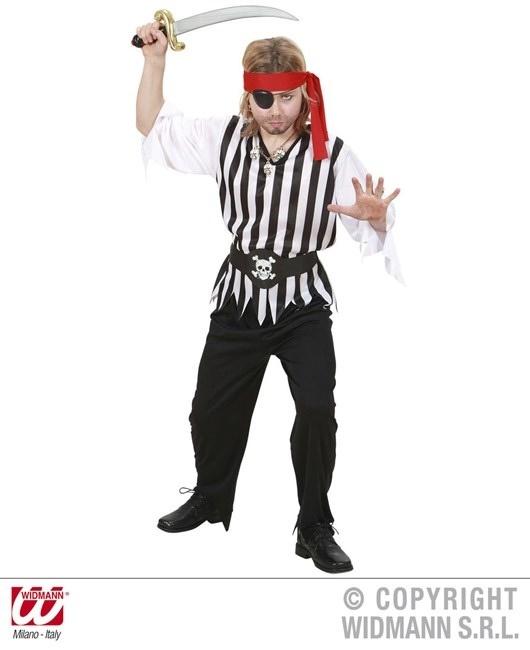 Kostüm Pirat (Coat, Hose, Gürtel, Stirnband) Größe 158
