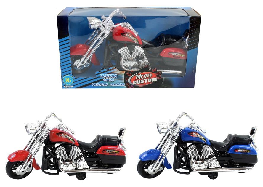 Motorrad 2-fach sortiert mit Friktion ca 30 cm