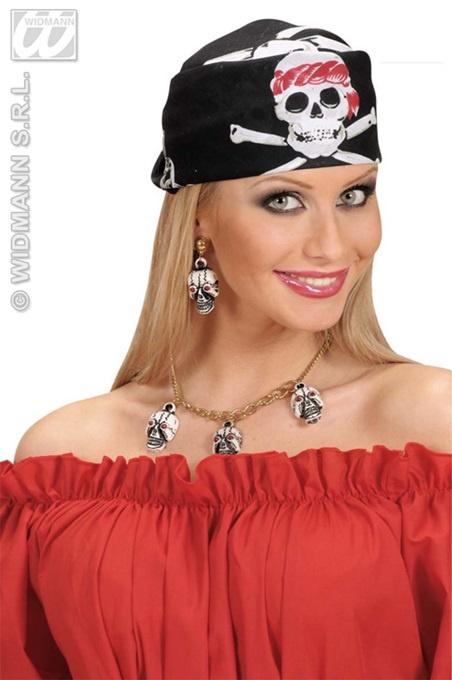 Bandana - Pirat schwarz ca 55x55cm