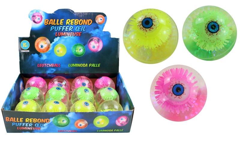 Leuchtball  Auge 3-fach sortiert ca 65 mm