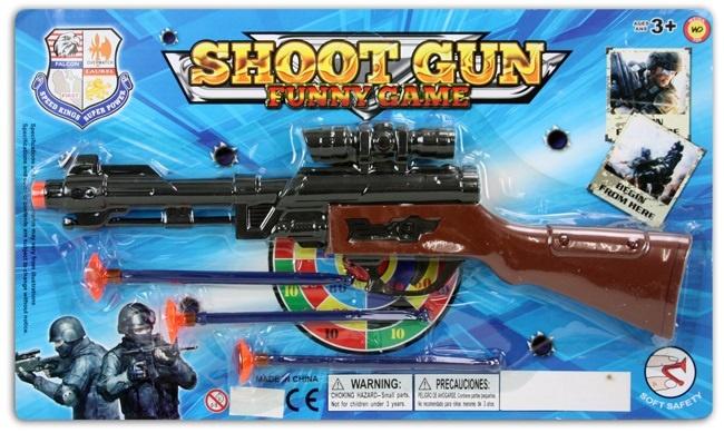 Pfeilgewehr mit 3 Pfeilen auf Karte ca 36x21cm