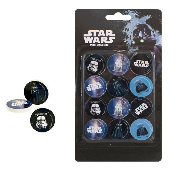 Radiergummi Star Wars ca 28 mm auf Karte 20,5x11cm