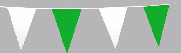 10-m-Wimpelkette, grün/weiß