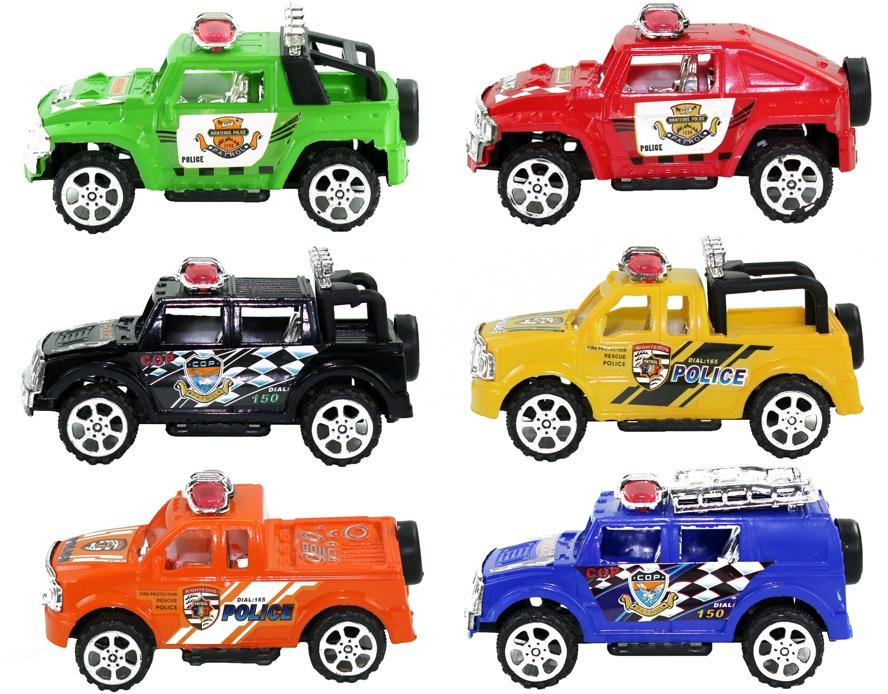 Polizei SUV 6 Farben sortiert - ca 10cm