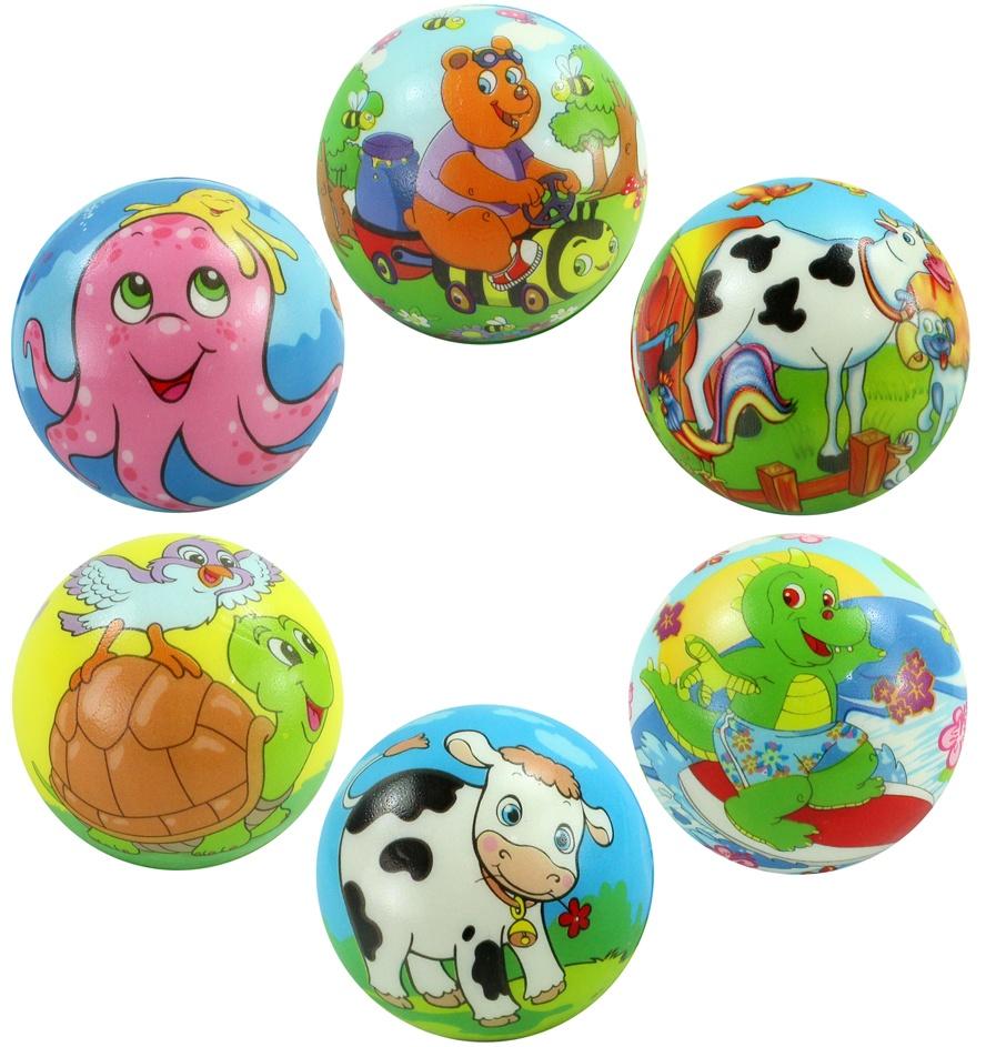 Ball mit Tiermotiven mehrfach sortiert - ca 7 cm