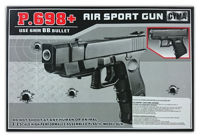 Kugelpistole mit 2 Magazinen max 0,5 Joule - ca 21cm